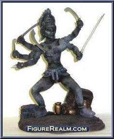 Kali - Action Figure Gallery Her Hair, Garden Sculpture, Action Figures, Erotic, Medusa, Abraham Lincoln, Gallery, Pie, Jellyfish