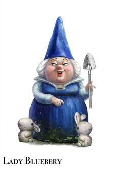 Lady Bluebury, Gnomeo's widowed mother and leader of the Blue Gnomes