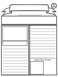 Here's a how-to and a printable newspaper article template for kids.