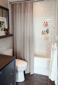 Small Bathroom Decorating Pictures with White Wall Tile