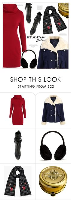 """""""ice skating date"""" by mycherryblossom ❤ liked on Polyvore featuring Dsquared2, Yves Salomon, In Fiore and iceskatingoutfit"""