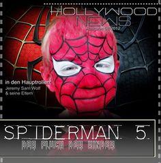 Kinderschminken und diesmal als Spiderman