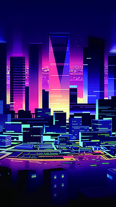 The simplicity of the city of flattening in the background – Cyberpunk Gallery Retro Wallpaper, Screen Wallpaper, Wallpaper Backgrounds, Neon City, Vaporwave Wallpaper, Cyberpunk City, Graphisches Design, Japon Illustration, Retro Waves