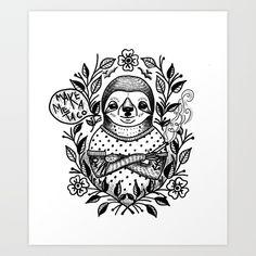 sloth, sengångare, taco, feminist