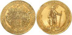 German States: Braunschweig-Wolfenbuttel AV 20 Goldgulden 1625 Goslar Mint Herzog Friedrich Ulrich 1618-34 Sold for 650,000 UK Pounds!