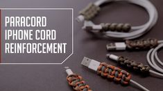 Paracord iPhone Cord Reinforcement - YouTube