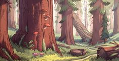 Gravity Falls background art