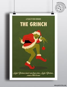 Grinch - Minimal Christmas Movie Poster by Posteritty #Christmas #xmas #MinimalMoviePosters #Posteritty #Grinch