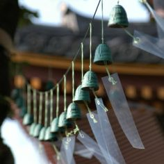 The purity of sound it produces is unlike any other bell. I love my Japanese bell windchime!!