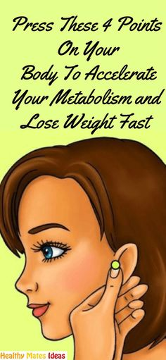 PRESS THESE 4 POINTS ON YOUR BODY TO ACCELERATE YOUR METABOLISM AND LOSE WEIGHT FAST!