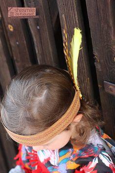 Indianerschmuck, Kopfschmuck für Kinder und Erwachsene - Nach einem Tutorial von Ministöffchen - genäht von shesmile