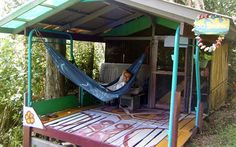 Hedonisia, Hawaii, US  - playful, Tarzan-inspired all-green hostel offers remodelled items as rooms  - choose a renovated school bus, sleep in tents in an old barn, choose a stylish cabin, or a simple campsite