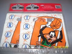 disney goofy treat bags party express basketball birthday party LOT 16 count #Disney