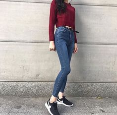 Undefined new style . in 2019 style vestimentaire, mode coré Korean Casual Outfits, Preppy Outfits, Cute Outfits, Fashion Outfits, Korean Outfits School, Fashion Ideas, Fall College Outfits, Fall Outfits, Fashion Mode