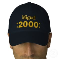 fd8e3d761c1c1 Born in 2000 or Any Year Birthday W01H NAVY Embroidered Baseball Cap Create  your own hat you can personalize for any special occasion. Add a name!