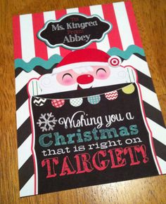 Customized Target Gift Card Holder Teacher Gift