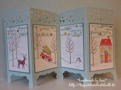 Paravant-Karte mit Stempelset Weiße Weihnacht von Stampin´Up!... Driving Home For Christmas...