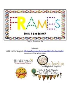 Free frames and borders Teaching Tools, Teacher Resources, Classroom Organization, Classroom Decor, Free Frames And Borders, Flora Frame, Doodle Borders, Cool Fonts, Fun Fonts