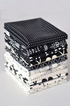 Comma by Zen Chic Black and White Fat Quarter by westwoodacres, $27.50