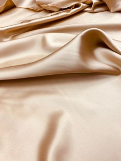 Sandy Beige Silk Charmeuse Satin 45 inch sold by the | Etsy
