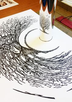 Amazing Anamorphic Artworks That Need A Mirror Cylinder To Reveal Their Beauty