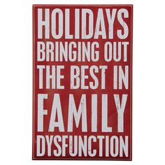 Funny Family Holiday Sign!