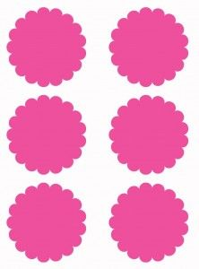 Free Scallop Circle Template Printables in Several Colors