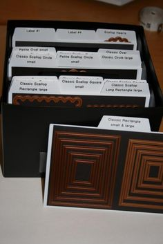 Creative Memories box. Nestabilities dies with magnetic sheets. Ask me how: http://www.mycmsite.com/sites/susanbermudez