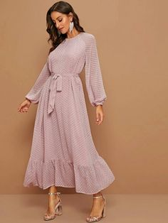Modest Dresses, Satin Dresses, Modest Outfits, Modest Fashion, Dress Outfits, Casual Dresses, Fashion Dresses, Curvy Fashion, Trendy Fashion