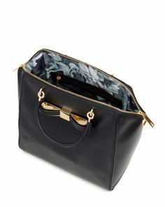 Large bow tote bag - Black | Bags | Ted Baker SEU