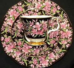Royal Albert Provincial Series Fireweed England Black Tea Cup and Saucer Trio | eBay
