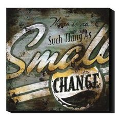 Global Gallery Small Change by Rodney White Graphic Art Print on Canvas Size: Small