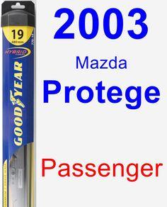 Passenger Wiper Blade for 2003 Mazda Protege - Hybrid