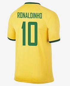 Ronaldinho #10 Brazil Home Jersey 2014/15 (M)