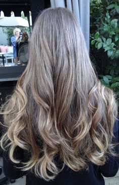 Medium brown with golden highlights. Color by Sarah Conner.