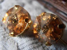 Golden shadow Swarovski crystal 12mm round by ParisiJewelryDesigns, $19.99