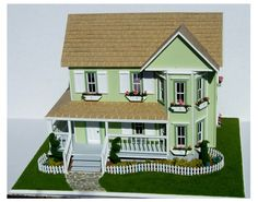 144th Scale Italian Villa. This Italian Villa is finished inside and out.