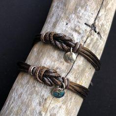 Couples Bracelet, Love Knot Matching Bracelet Set, Her His Simple Everyday Long distance bracelets, Couples gift, two tone cord bracelets Bracelet Couple, Bracelet Knots, Bracelet Cuir, Cord Bracelets, Bracelet Set, Celtic Knot Bracelets, Couple Bracelets Leather, Black Leather Bracelet, Leather Cord
