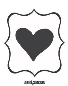 White and Black Heart Banner