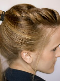 Twisted ponytail (already pinned? can't remember).