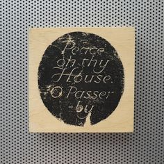 New to dustonmyboots on Etsy: Peace On Thy House O Passerby handmade block photo artwork print Canterbury medieval blessing brick wall wooden plaque peace sign art CAD) Peace Sign Art, Wooden Plaques, Canterbury, Brick Wall, Artwork Prints, Blessing, 4x4, Medieval, Art Projects