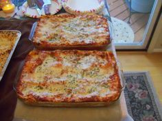 Lasagna For A Crowd!  A perfect recipe to make a lot of lasagna for a big family party!