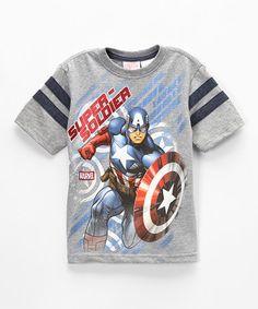Look what I found on #zulily! 'Super Soldier' Captain America Tee - Kids #zulilyfinds