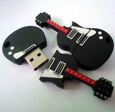 Único Guitarra forma única unidad flash USB de 16GB 8GB 4GB 2GB