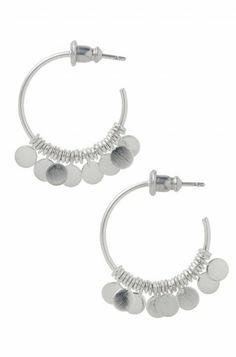 So Fun!!  Stella & Dot Small Fringe Hoop Earrings