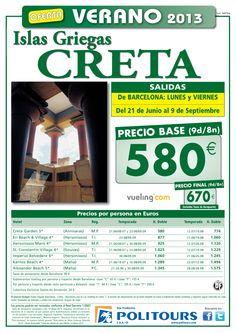 CRETA Islas Griegas salida. 21/06 al 09/09 desde Barcelona ( 9d/8n) p.f. 670€ - http://zocotours.com/creta-islas-griegas-salida-2106-al-0909-desde-barcelona-9d8n-p-f-670e/