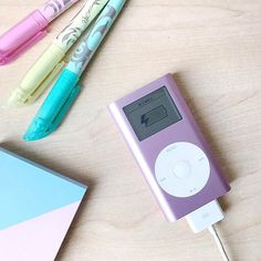 """It still works! 🎧 this is my very first #iPod the first small model ever, named """"MINI"""", it's obsolete now but it works! 💕i love it! .  .  .  .  .  .  .  .  .  #pink #pinks #lightpink #ibelieveinpink  #stationarylover #stationery #stationerylove #stationeryaddict #frixion #frixionpen #pilotpen #pilot #pilotfrixion #flatlay"""