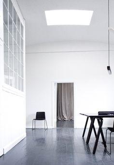 Studio Norm Architects, Jonas Bjerre-Poulsen and Kasper Rønn Cafe Interior, Interior Exterior, Interior Styling, Interior Architecture, Interior Decorating, Beautiful Interior Design, Best Interior Design, Warehouse Living, Industrial Living