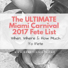 Miami Carnival Info