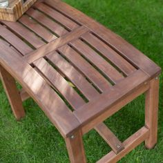 Coral Coast 4 ft. Outdoor Wood Curved Backless Bench - Dark Brown - Outdoor Benches at Hayneedle